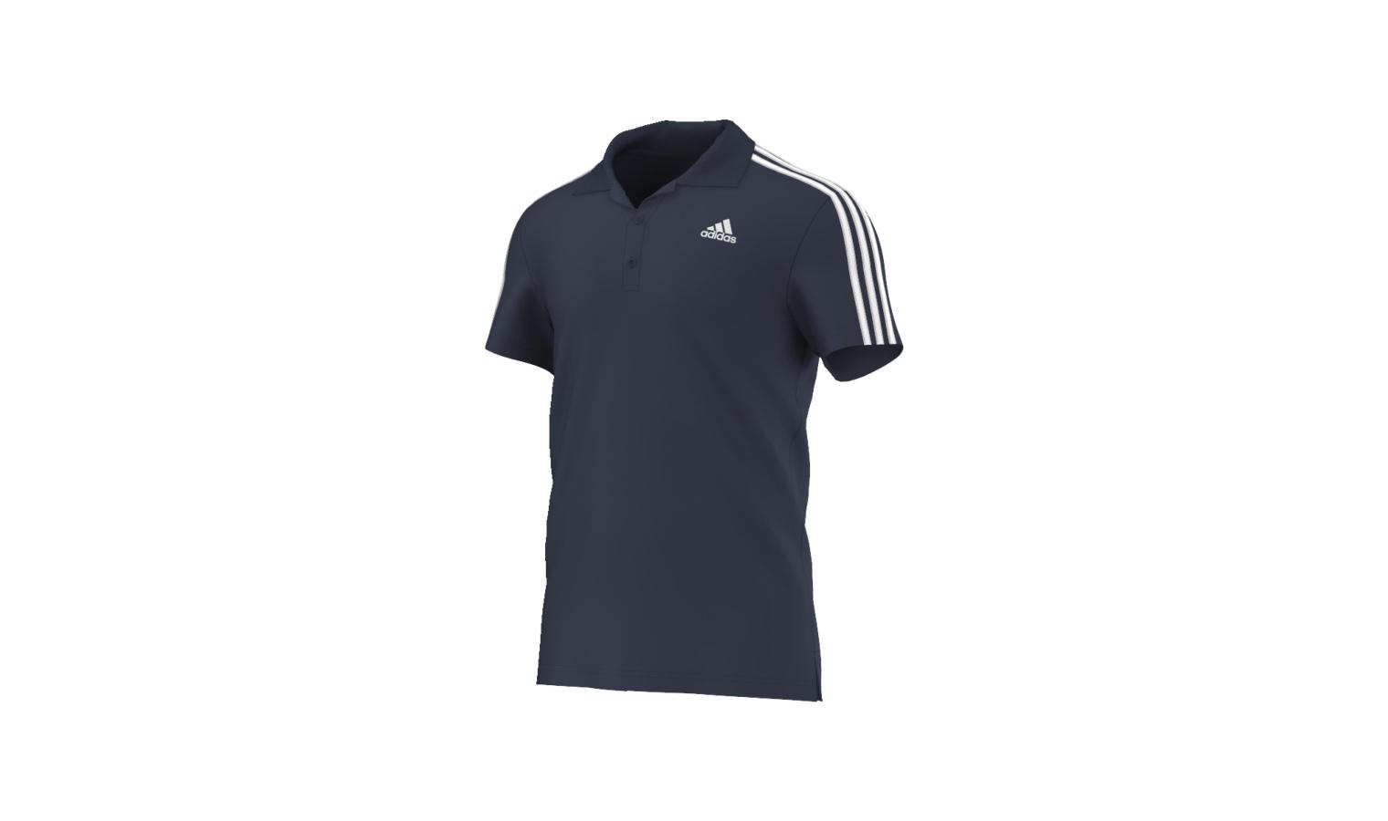 Pánské polo tričko adidas ESS 3S POLO modré  d165dd53a8a