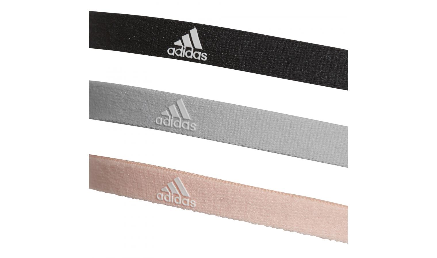 Čelenka adidas 3PP HAIRBAND černá šedá růžová  f65f7b6662