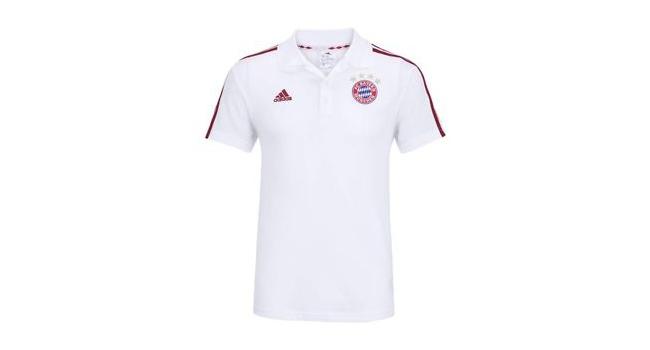 Pánské fotbalové tričko adidas FCB 3S POLO bílé  740a29b4e9f