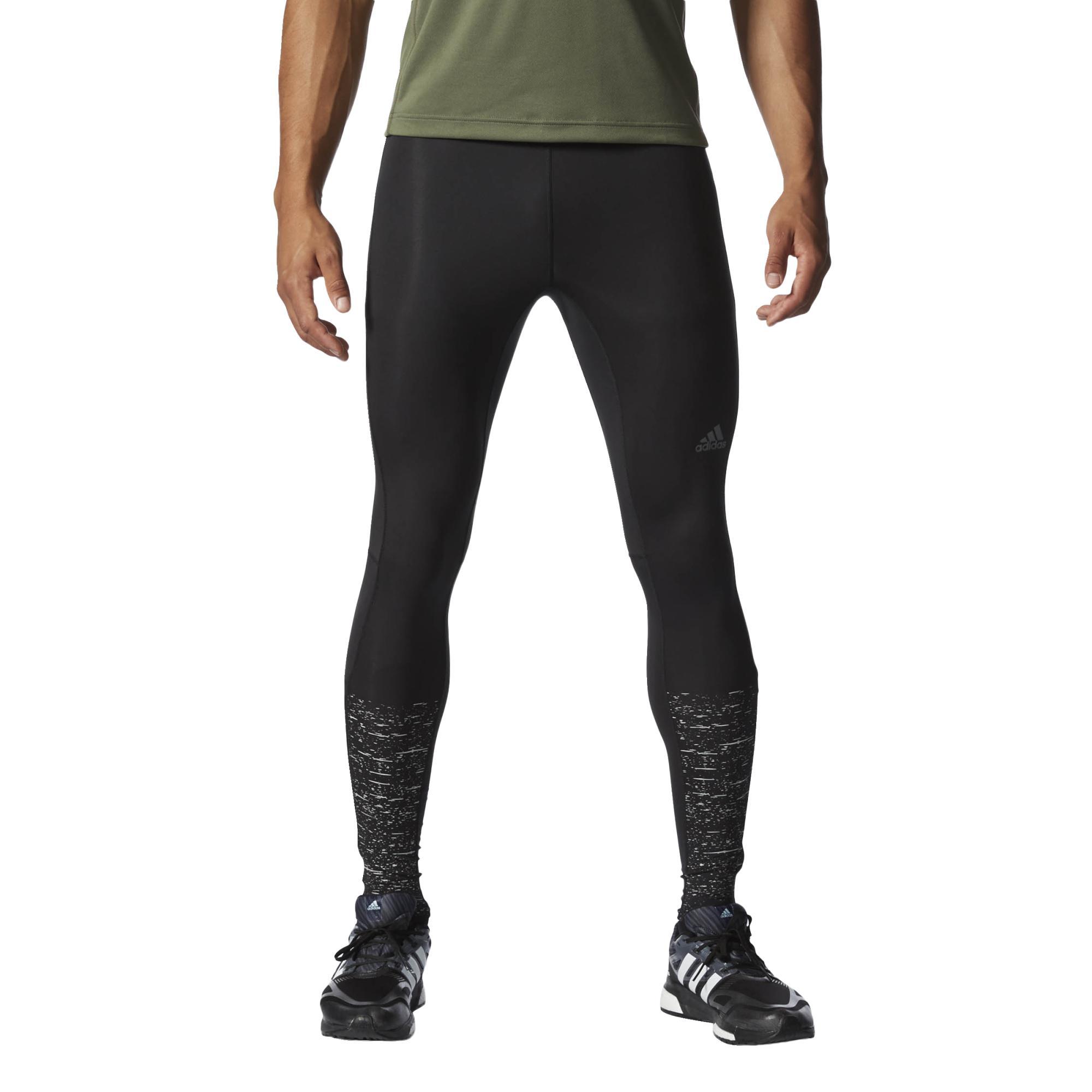 e645cda1e Pánské běžecké legíny adidas SUPERNOVA GRAPHIC LONG TIGHT MEN černé ...