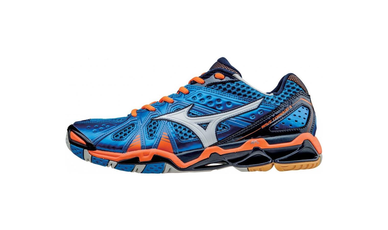 c28d2e00e7e Pánské sálové boty Mizuno WAVE TORNADO 9 modré   oranžové