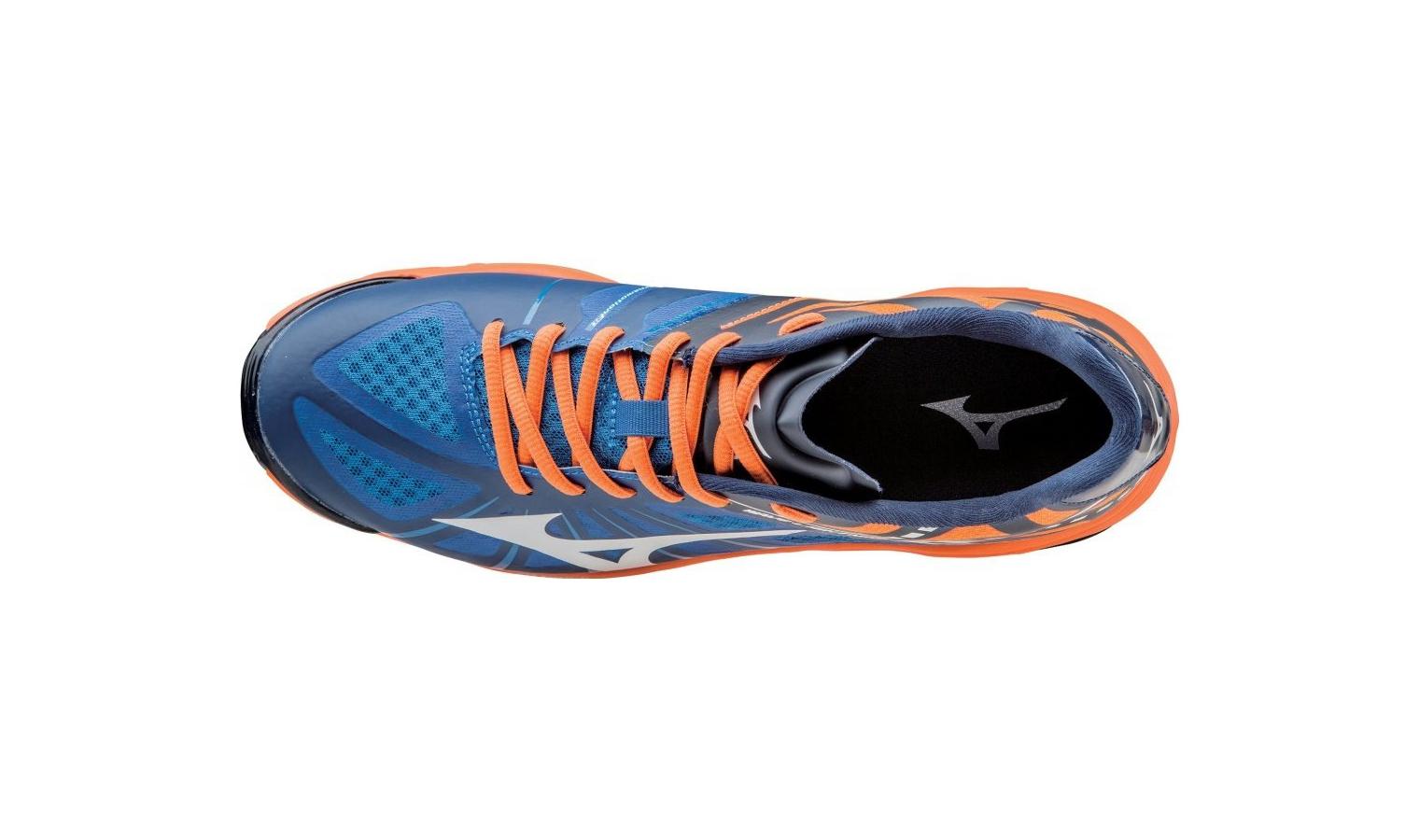 b26d1723ef6 Pánské sálové boty Mizuno WAVE LIGHTNING Z modré   oranžové