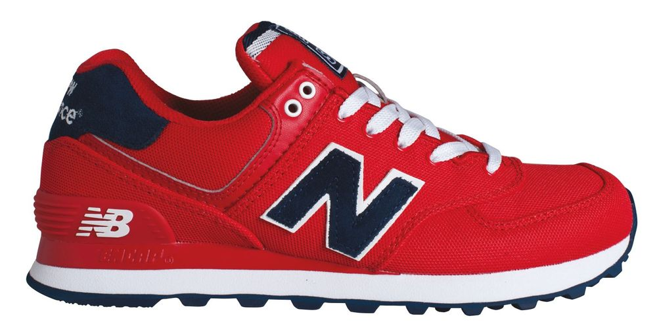 5f9090dfbe3 Dámské tenisky New Balance WL574POR W červené