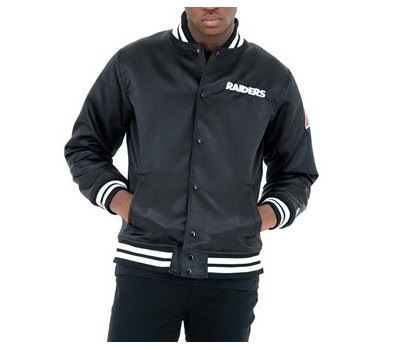 F O R SATEEN BOMBER OAKLAND RAIDERS