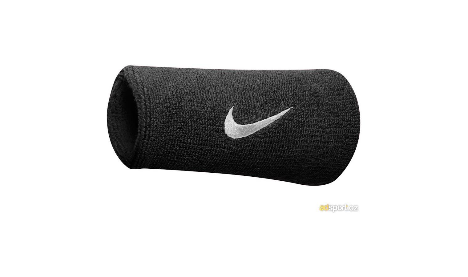 Potítko Nike SWOOSH DOUBLEWIDE WRISTBANDS černé  eb8dcf1266