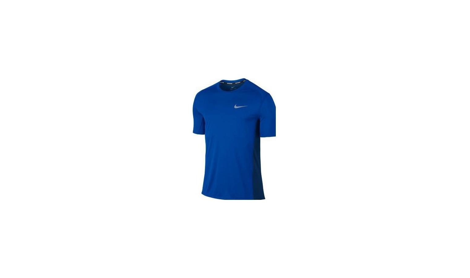 1cd5af6676 ... Pánské běžecké tričko Nike M NK DRY MILER TOP SS modré. Sleva