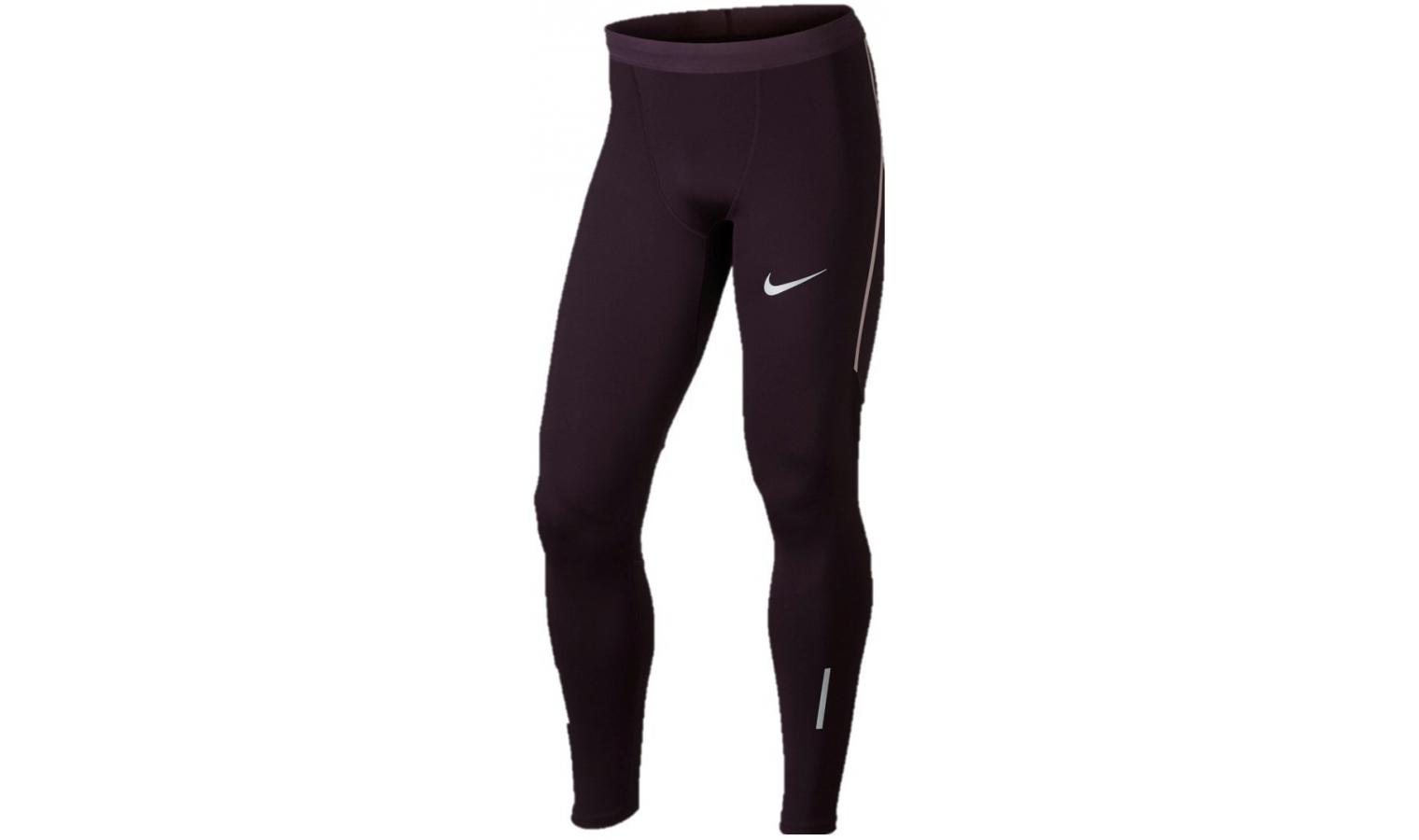 Pánské sportovní legíny Nike POWER TECH TIGHT vínové  26e450b815