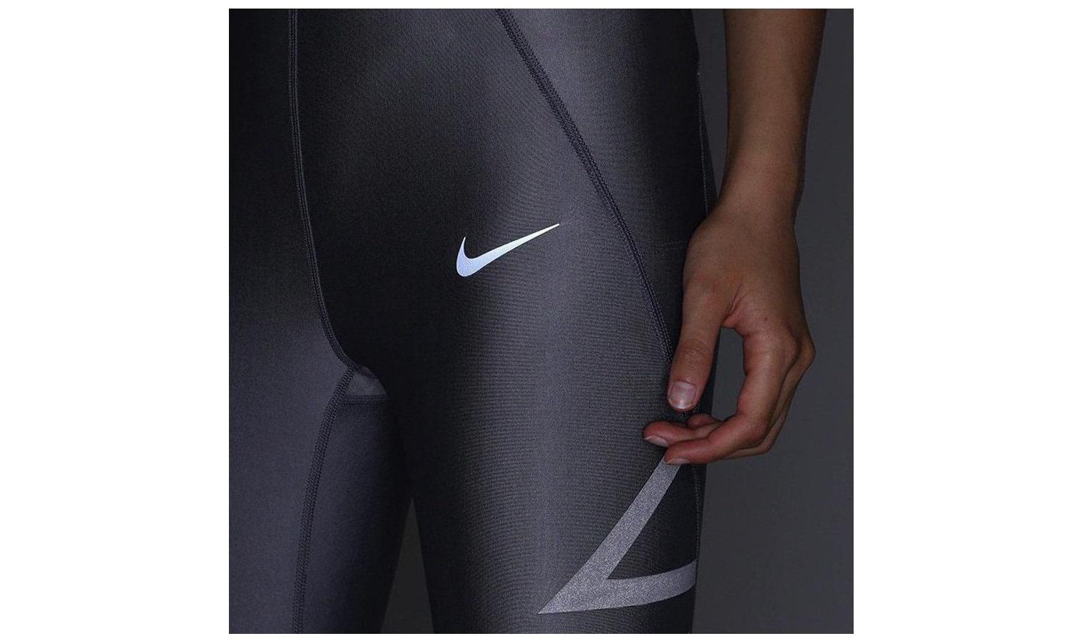 f9026314b61b Dámské kompresní legíny Nike NK SPEED TGHT 7 8 FL W šedé
