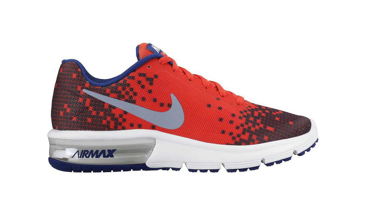 Dětské boty Nike AIR MAX SEQUENT PRINT (GS) červené  ab94228d224