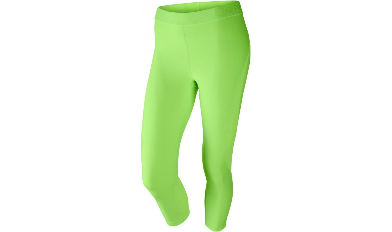 ... Dámské sportovní legíny Nike W NP HYPERCOOL CAPRI SUMM WASH W zelené.  Sleva 6721bc8e62