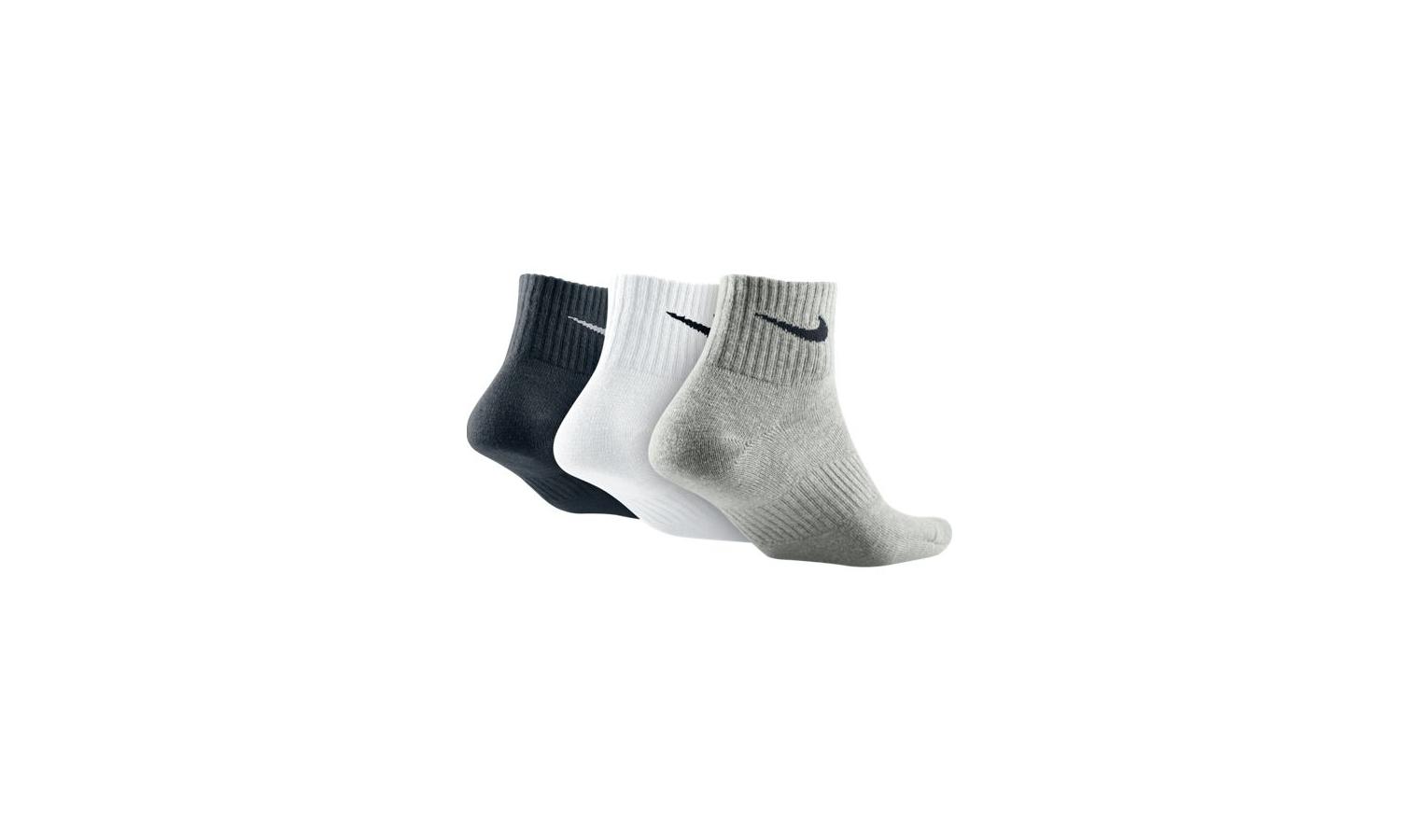 8aa0189c330 Kotníkové ponožky Nike LIGHTWEIGHT QUARTER šedé   černé   bílé