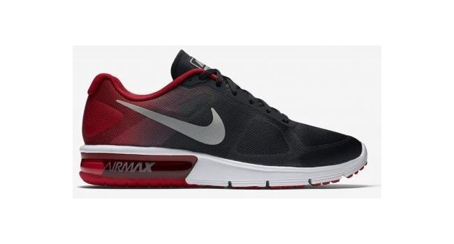 19dccd602ba Pánské boty Nike AIR MAX SEQUENT černé   červené