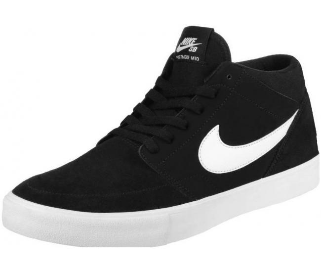 Pánské kotníkové boty Nike SB SOLARSOFT PORTMORE II MID černé