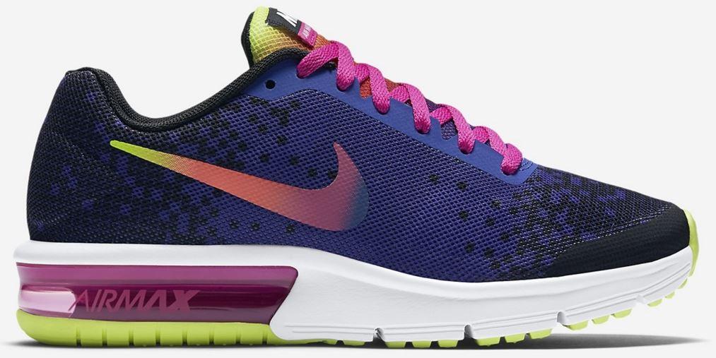 Dětské boty Nike AIR MAX SEQUENT PRINT (GS) modré  f45b3331f4a
