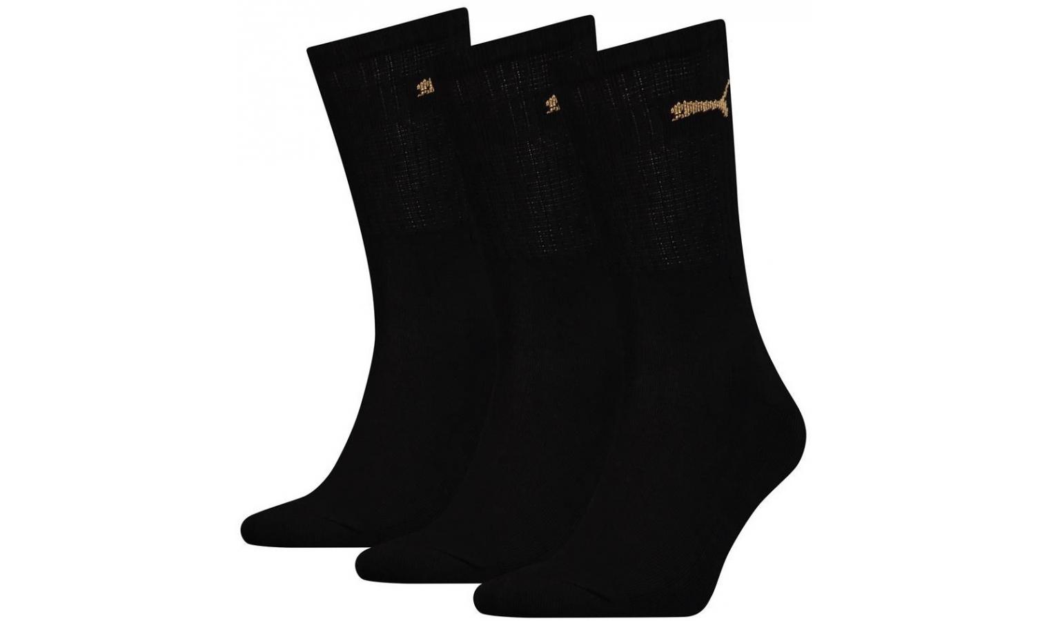Dámské ponožky Puma SPORT 3P černé  cd892f9571
