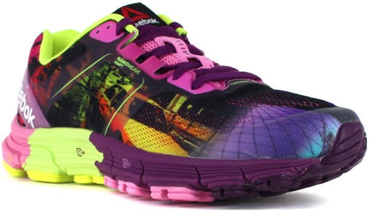 Dámské běžecké boty Reebok ONE CUSHION 3.0 CG zelené   fialové  f6911b4109e