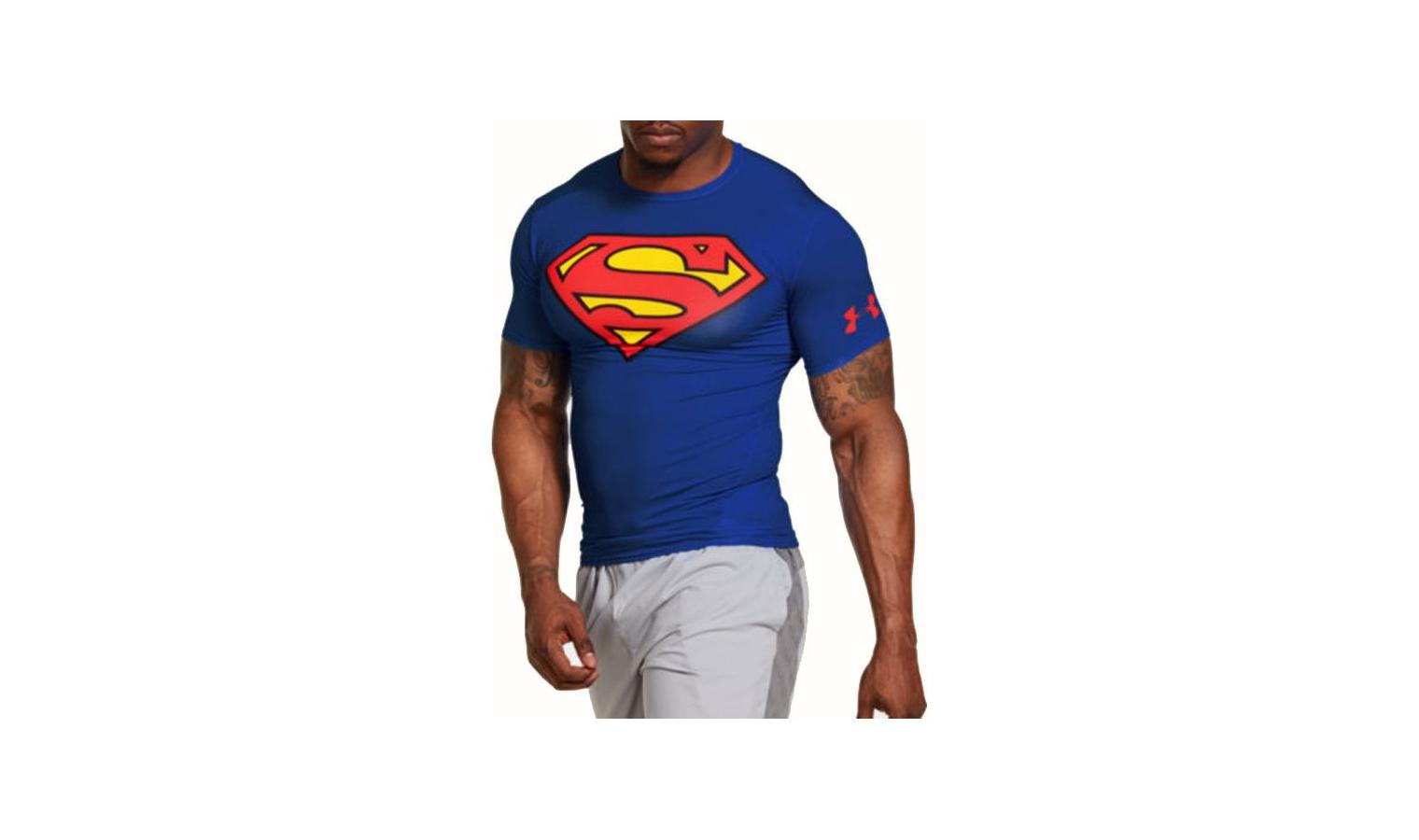 Pánské kompresní tričko Under Armour ALTER EGO COMP SS modré  f383cb0bda0