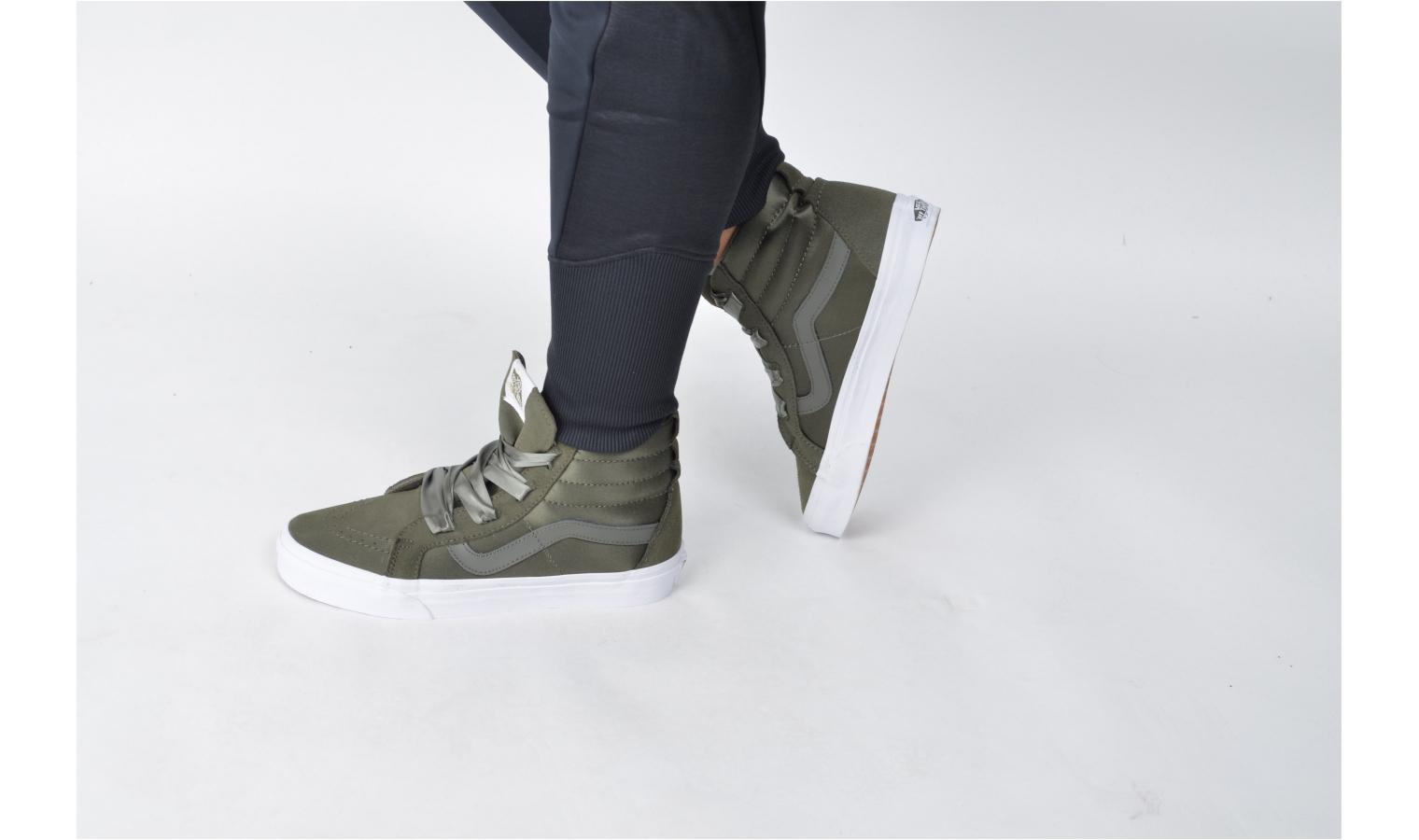... Dámské kotníkové boty Vans UA SK8-HI ALT LACE (BALLERINA) W zelené.  Sleva 03886711cc
